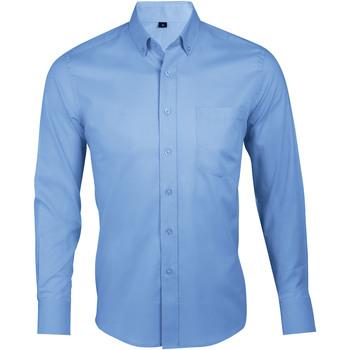 Kleidung Herren Langärmelige Hemden Sols BUSINESS MEN Azul