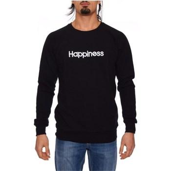 Kleidung Herren Sweatshirts Happiness CREW_HAP BLACK