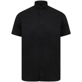 Kleidung Herren Kurzärmelige Hemden Henbury HB517 Schwarz