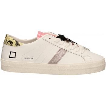 Schuhe Damen Sneaker Low Date HILL LOW CALF PYTHON bianco-giallo