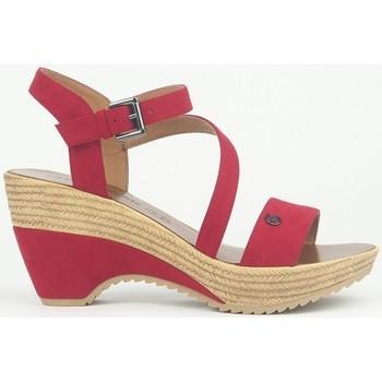 Schuhe Damen Sandalen / Sandaletten Chattawak Compensée 9-MAELLE ROUGE Rot