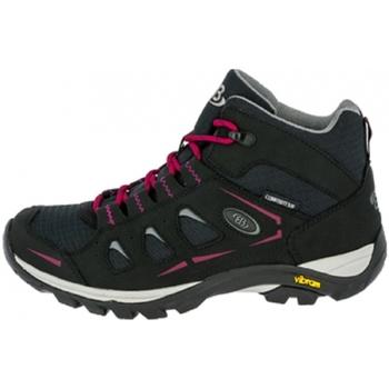 Schuhe Damen Wanderschuhe Brütting Trekkingst 221157 schw/pink