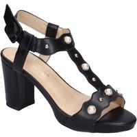 Schuhe Damen Sandalen / Sandaletten Brigitte sandalen kunstleder schwarz