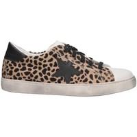 Schuhe Mädchen Sneaker Low Dianetti Made In Italy I98410 Sneaker Kind Leopard Leopard