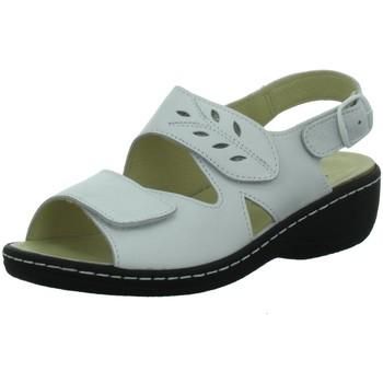 Schuhe Damen Sandalen / Sandaletten Longo Sandaletten Helle Fußbettsandalette 1019652 weiß