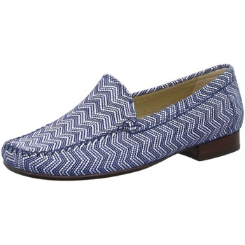 Schuhe Damen Slipper Sioux Slipper 63104 blau