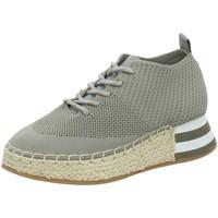 Schuhe Damen Sneaker High La Strada Schnuerschuhe Grauer Sneaker mit Plateau 1902367-4503 grau