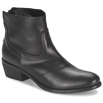 Schuhe Damen Boots Meline SOFMET Schwarz