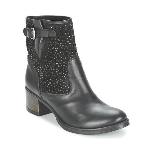 Meline NERCRO Schwarz Schuhe Low Boots Damen 75