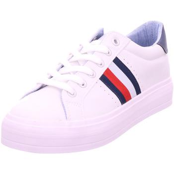 Schuhe Damen Sneaker Low Idana SchnUErhalbschuh sportlich/Sne WHITE 107