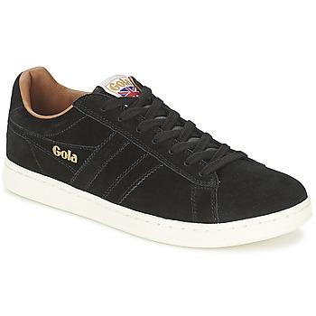 Schuhe Herren Sneaker Low Gola EQUIPE SUEDE Schwarz