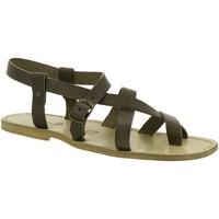 Schuhe Damen Sandalen / Sandaletten Gianluca - L'artigiano Del Cuoio 530 U FANGO CUOIO Fango