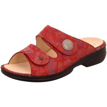 Schuhe Damen Pantoffel Finn Comfort Pantoletten 02550-657420 rot
