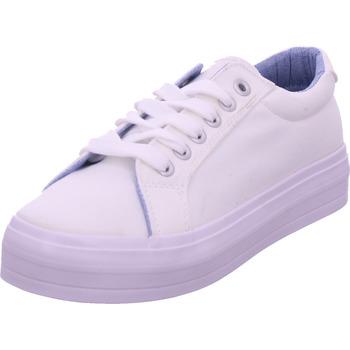 Schuhe Damen Sneaker Low Idana Damen Leinen Sneaker WHITE 107