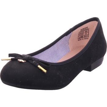 Schuhe Damen Ballerinas Idana Ballerina glatt und sportlich BLACK 007