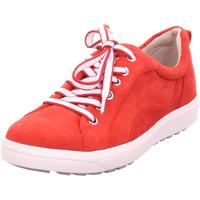 Schuhe Damen Sneaker Low Jana Woms Lace-up RED SUEDE