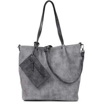 Taschen Damen Shopper / Einkaufstasche Emily & Noah Shopper Bag in Bag Surprise grey darkgrey 808