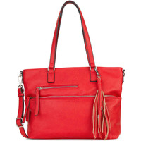 Taschen Damen Shopper / Einkaufstasche Tamaris Shopper Adele red 600
