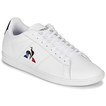 Schuhe Herren Sneaker Low Le Coq Sportif COURTSET Weiss / Marine