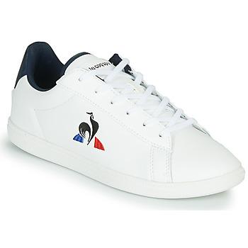 Schuhe Kinder Sneaker Low Le Coq Sportif COURTSET GS Weiss / Blau