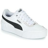 Schuhe Damen Sneaker Low Puma CARINA LIFT Weiss / Schwarz / Grau