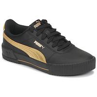 Schuhe Damen Sneaker Low Puma CARINA Schwarz / Gold