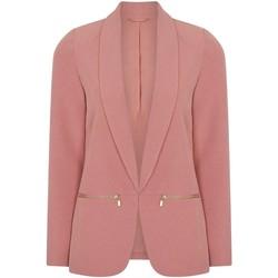 Kleidung Damen Jacken / Blazers Anastasia Damen Pink Edge zu Edge Blazer Jacke Pink