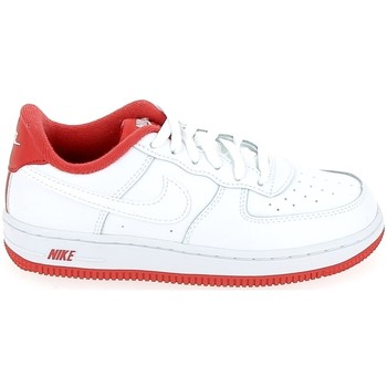 Schuhe Kinder Sneaker Low Nike Air Force C Blanc Rouge CU0816-101 Weiss