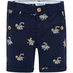 Kleidung Mädchen Shorts / Bermudas Mayoral Bermuda estampado tigres Tinta blue