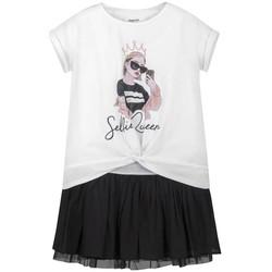 Kleidung Mädchen Kurze Kleider Mayoral Kids Vestido combinado Blanco Weiß