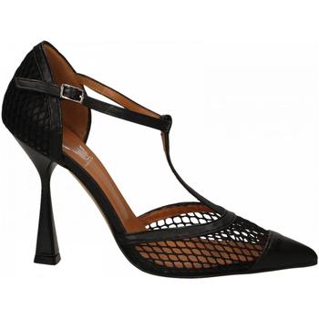 Schuhe Damen Pumps Mivida CHIFFON+RETE nero