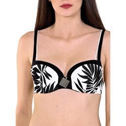 Kleidung Damen Bikini Ober- und Unterteile Lisca Ocean City schwarzes vorgeformtes -Badeanzug-Top Perlschwarz