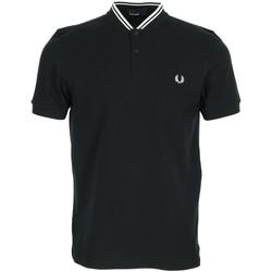 Kleidung Herren Polohemden Fred Perry Bomber Collar Polo Shirt Schwarz