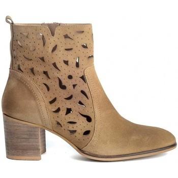 Schuhe Damen Low Boots Funny Lola 3650 Braun