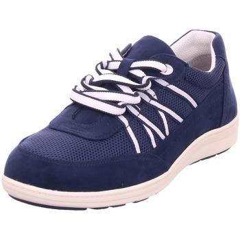 Schuhe Damen Sneaker Low Jana Da.-Schnürer NAVY