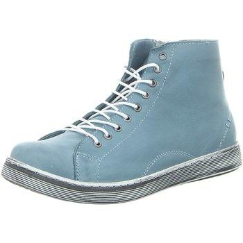 Schuhe Damen Boots Andrea Conti Stiefeletten 0341500016 blau