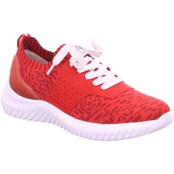 Schuhe Damen Sneaker Low Jana Schnuerschuhe Da.-Schnürer 8-8-23706-24 500 rot