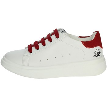 Schuhe Kinder Sneaker Low Asso AG-5415 Sneakers Kind Weiss/Rot Weiss/Rot