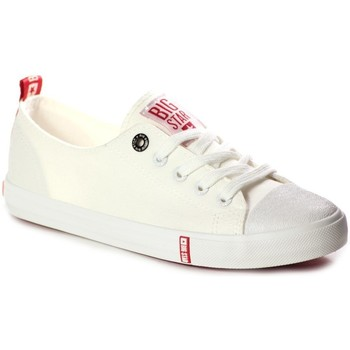 Schuhe Damen Sneaker Low Big Star FF274087 Creme