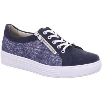 Schuhe Damen Sneaker Low Solidus Schnuerschuhe Kaja 32004 80174 3200480174 blau