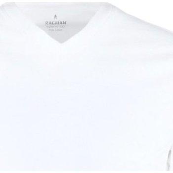 Kleidung Herren T-Shirts Ragman Accessoires Bekleidung 40057 40057 006 weiß