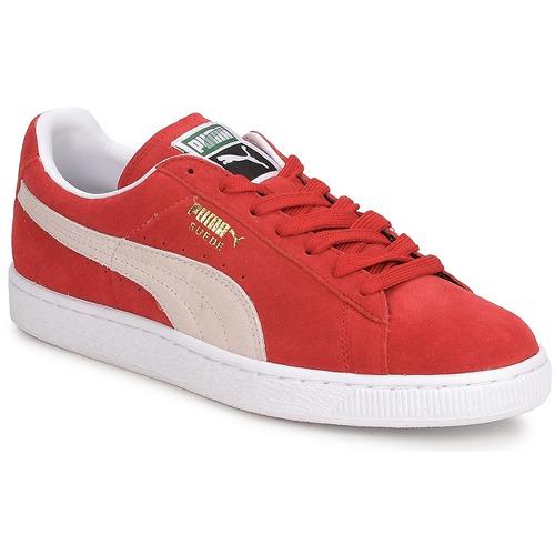 Schuhe Herren Sneaker Low Puma SUEDE CLASSIC + Rot / Weiss