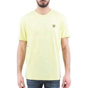 Kleidung Herren T-Shirts Lyle & Scott   Einfaches T-Shirt, gelb   LYS_TS400V Z913 jaune