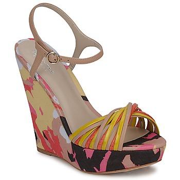 Schuhe Damen Sandalen / Sandaletten Bourne KARMEL Beige / Multicolor