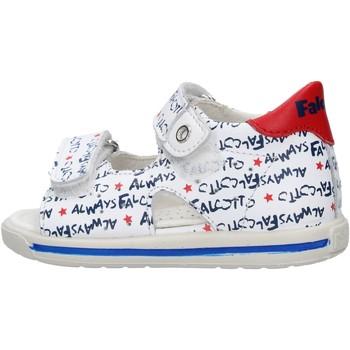 Schuhe Jungen Wassersportschuhe Falcotto - Sandalo bianco/blu ARIEL-1N07 BIANCO