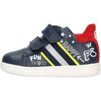 Schuhe Jungen Sneaker Falcotto - Polacchino blu/rosso ATLEY-1C23 BLU