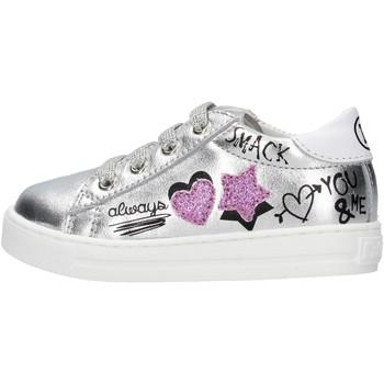 Schuhe Jungen Sneaker Falcotto - Polacchino argento MERVI-1Q01 ARGENTO