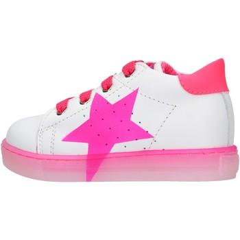 Schuhe Jungen Sneaker Falcotto - Polacchino bianco/rosa VENUS-1N19 BIANCO