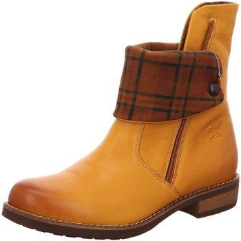 Schuhe Damen Stiefel Maciejka Stiefeletten gelb