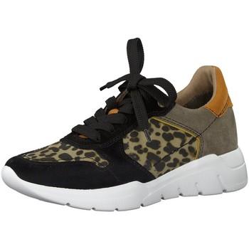 Schuhe Damen Sneaker Jana Da.-Schnürer 8-8-23729-24/098 schwarz
